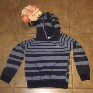 Lucky brand boys size 7 blue striped hoodie